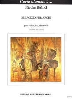 Esercizio per archi (Trio à cordes n° 2) –Parties + Conducteur - laflutedepan.com