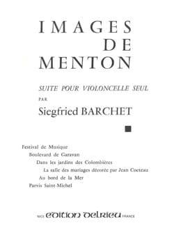 Siegfried Barchet - Images de Menton - Partition - di-arezzo.fr