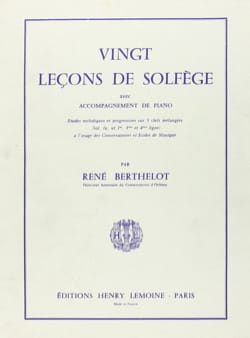 René Berthelot - 20 Lessons - 5 keys with acc. - Sheet Music - di-arezzo.com