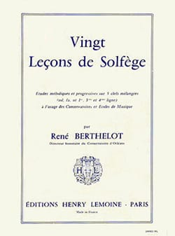 René Berthelot - 20 Lessons 5 Keys - without acc. - Sheet Music - di-arezzo.com
