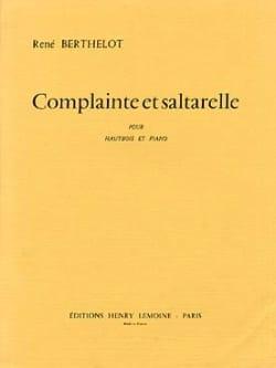 René Berthelot - Complainte et Saltarelle - Partition - di-arezzo.fr