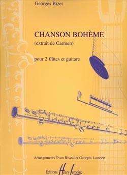 Chanson Bohème - Trio 2 Flûtes-Guitare BIZET Partition laflutedepan