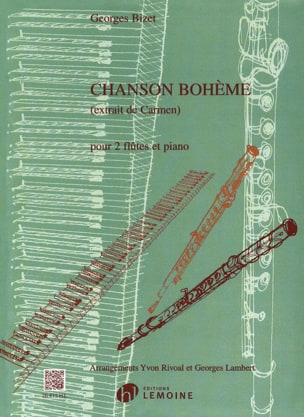 BIZET - Bohemian Song - 2 flutes and piano - Sheet Music - di-arezzo.co.uk