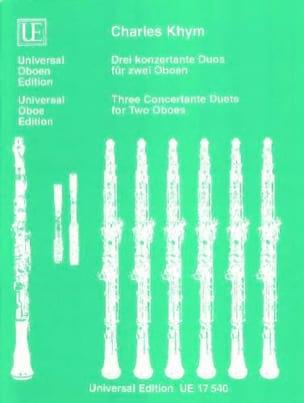 Charles Khym - 3 konzertante Duos für zwei Oboen - Sheet Music - di-arezzo.co.uk