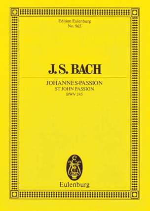 BACH - Johannes-Passion - Score - Sheet Music - di-arezzo.co.uk