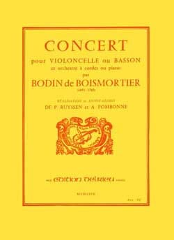 BOISMORTIER - Concert In D Major - Sheet Music - di-arezzo.co.uk