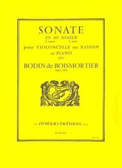 Joseph Bodin de Boismortier - Sonate en mi mineur op. 26 - Partition - di-arezzo.fr