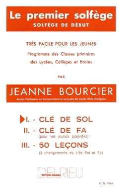 Jeanne Bourcier - The first solfeggio - Volume 1: Treble clef - Sheet Music - di-arezzo.co.uk