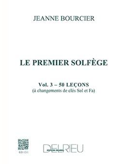 Jeanne Bourcier - Le premier solfège – Volume 3 (2 Clés) - Partition - di-arezzo.fr