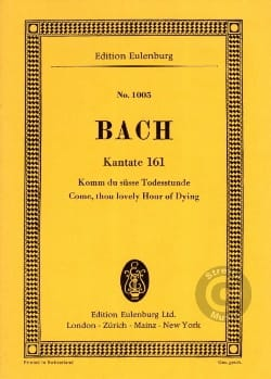 Cantata Komm du Süsse Todesstunde BWV 161 - BACH - laflutedepan.com