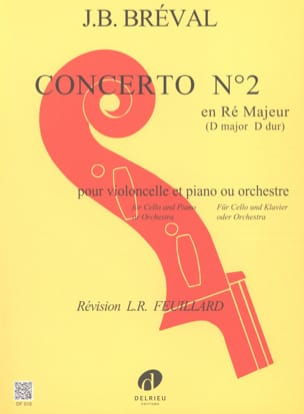 Jean-Baptiste Bréval - Concerto No. 2 in D Major - Sheet Music - di-arezzo.com