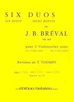 6 Duos Volume 1 - Jean-Baptiste Bréval - Partition - laflutedepan.com
