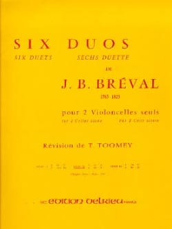 6 Duos, Volume 2 - 2 Violoncelles Jean-Baptiste Bréval laflutedepan