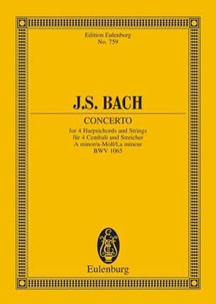 BACH - Konzert a-moll, BWV 1065 - Partition - di-arezzo.fr