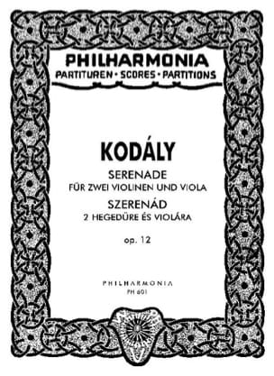 Zoltán Kodály - Serenade op. 12 – Partitur - Partition - di-arezzo.fr