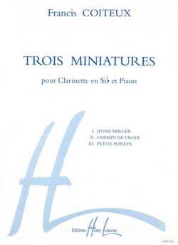 Trois miniatures Francis Coiteux Partition Clarinette - laflutedepan