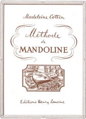Madeleine Cottin - Mandolin method - Sheet Music - di-arezzo.co.uk