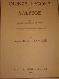 Jean-Michel Damase - 15 Music Lessons - 7 Keys A / A - Sheet Music - di-arezzo.co.uk