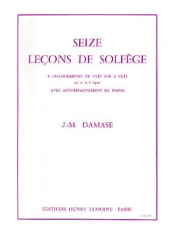 Jean-Michel Damase - 16 Solfege Lessons - 2 Keys A / A - Sheet Music - di-arezzo.co.uk