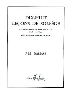 Jean-Michel Damase - 18 Solfege Lessons - 3 Keys A / A - Sheet Music - di-arezzo.co.uk