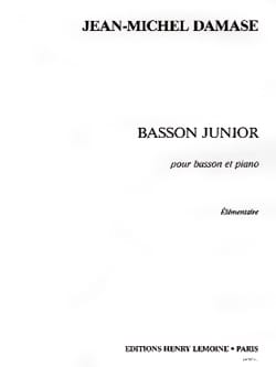 Basson Junior Jean-Michel Damase Partition Basson - laflutedepan