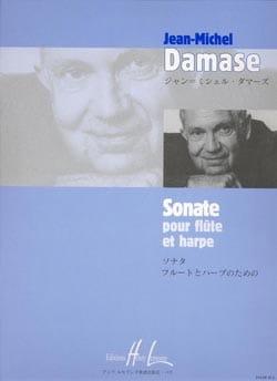 Sonate - Flûte et harpe Jean-Michel Damase Partition laflutedepan