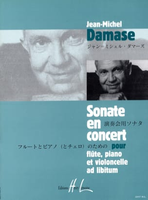 Jean-Michel Damase - Sonate en concert - Partition - di-arezzo.fr