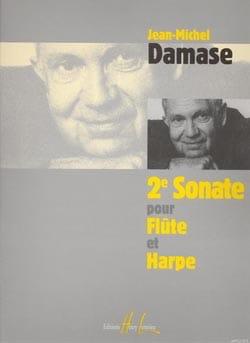 Sonate N°2 - Flûte Et Harpe Jean-Michel Damase Partition laflutedepan