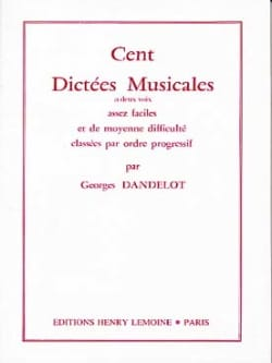 DANDELOT - 100 Dictations with 2 votes - Sheet Music - di-arezzo.co.uk