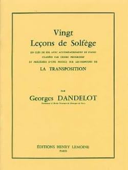 Georges Dandelot - 20 Leçons de solfège - Clé Sol A/A - Partition - di-arezzo.fr