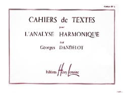 DANDELOT - Cahiers de Textes N ° 1 For Harmonic Analysis - Partition - di-arezzo.co.uk