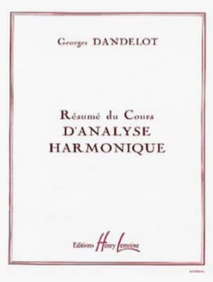Georges Dandelot - Summary of the harmonic analysis course - Sheet Music - di-arezzo.com