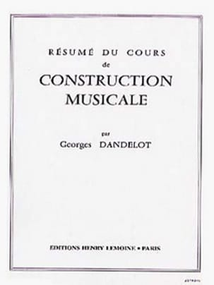 DANDELOT - Abstract course of musical construction - Sheet Music - di-arezzo.co.uk