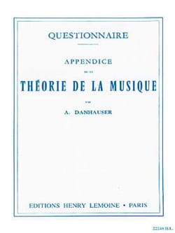 DANHAUSER - Questionnaire - DANHAUSER - Sheet Music - di-arezzo.co.uk