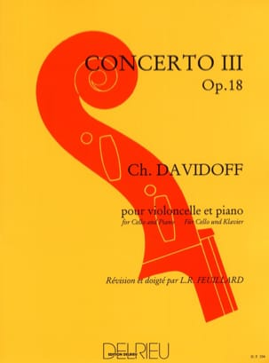 Charles Davidoff - Concerto No. 3 op. 18 in D major 1st solo - Partition - di-arezzo.co.uk