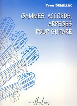 Yvon Demillac - Ranges, chords, arpeggios for guitar - Sheet Music - di-arezzo.co.uk