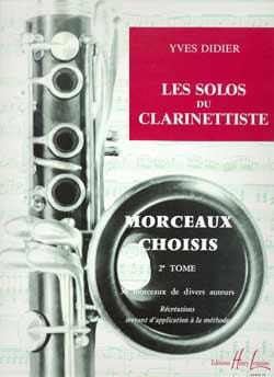 Yves Didier - Solos of the clarinetist - Volume 2 - Sheet Music - di-arezzo.co.uk