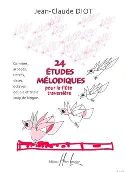 24 Etudes mélodiques Jean-Claude Diot Partition laflutedepan