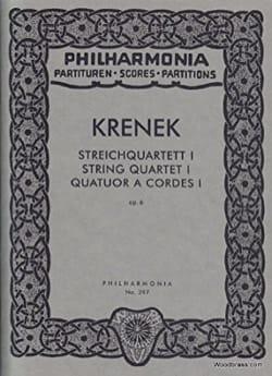 Streichquartett Nr. 1 op. 6 - Partitur Ernst Krenek laflutedepan