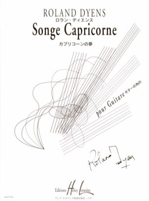 Roland Dyens - Capricorn dream - Sheet Music - di-arezzo.co.uk
