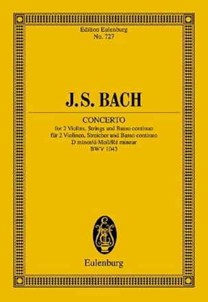 BACH - Konzert D-Moll, BWV 1043 - Partition - di-arezzo.fr