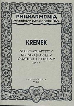 Streichquartett Nr. 5 op. 65 - Partitur Ernst Krenek laflutedepan