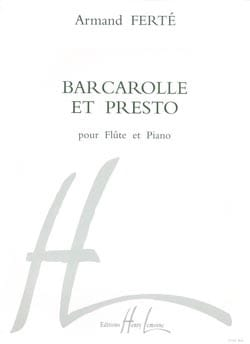 Armand Ferté - Barcarolle and Presto - Sheet Music - di-arezzo.co.uk