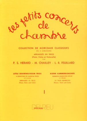 FEUILLARD - The Little Chamber Concerts Volume 1 - Trio - Sheet Music - di-arezzo.co.uk