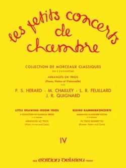 Louis Feuillard - Les Petits Concerts de Chambre Vol.4 – Trio - Partition - di-arezzo.fr
