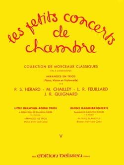 FEUILLARD - Les Petits Concerts de Chambre Vol.5 - Trio - Partition - di-arezzo.fr