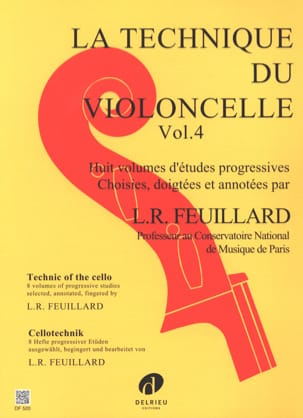 FEUILLARD - Technique du Violoncelle Volume 4 - Partition - di-arezzo.fr