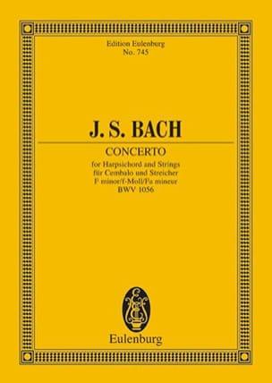 Konzert f-moll - BACH - Partition - Petit format - laflutedepan.com