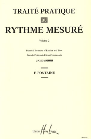 Fernand Fontaine - Practical Treaty of Measured Rhythm Volume 2 - Sheet Music - di-arezzo.co.uk