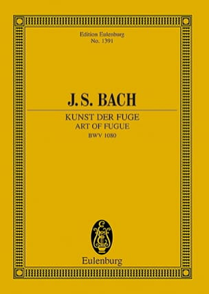 BACH - Kunst der Fuge - Partition - di-arezzo.fr